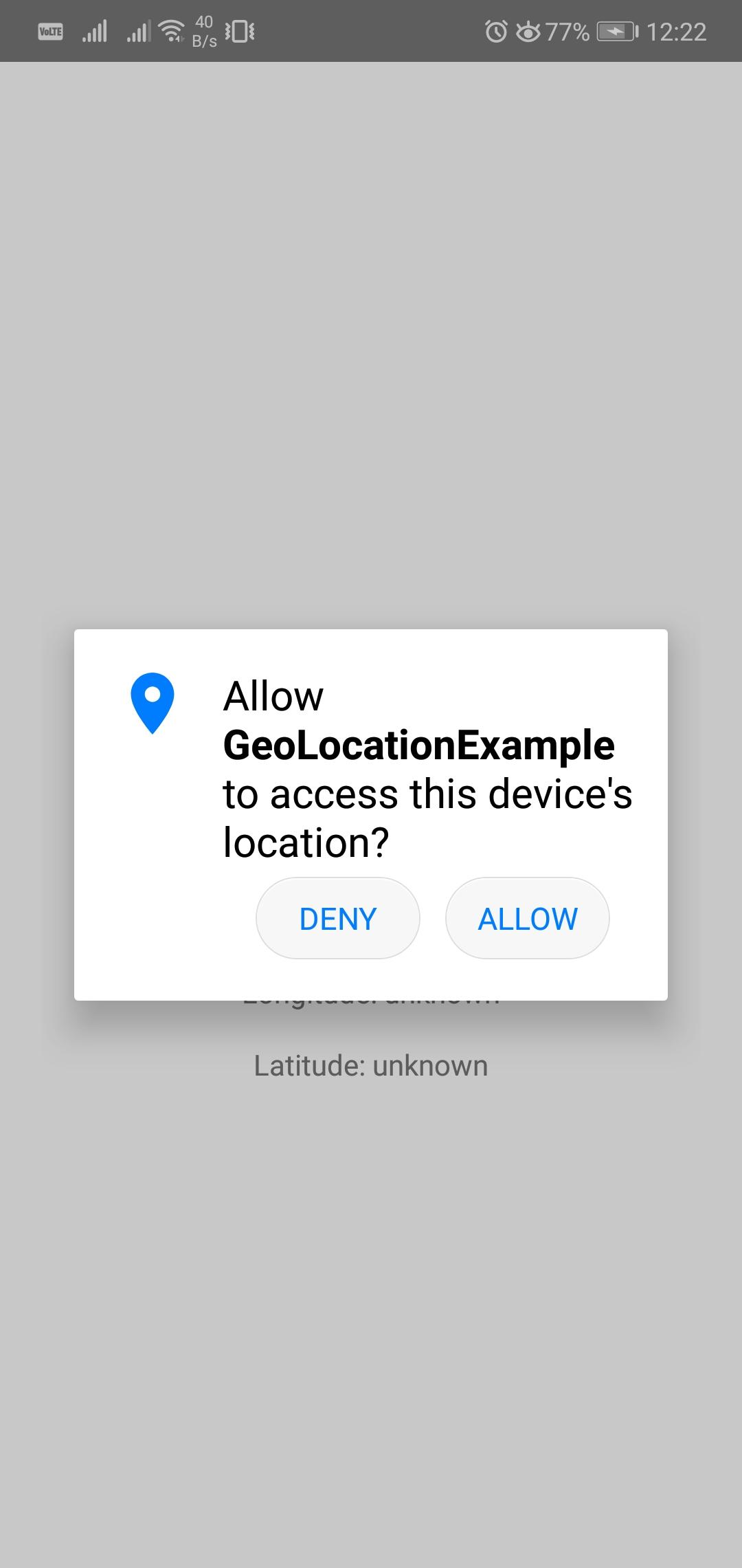 Current Location Latitude and Longitude Using React Native
