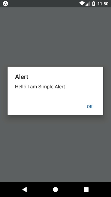 react native alert