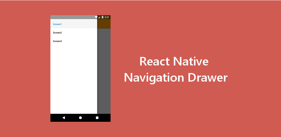 Example of React Native Navigation Drawer with Latest Navigation V. 3+