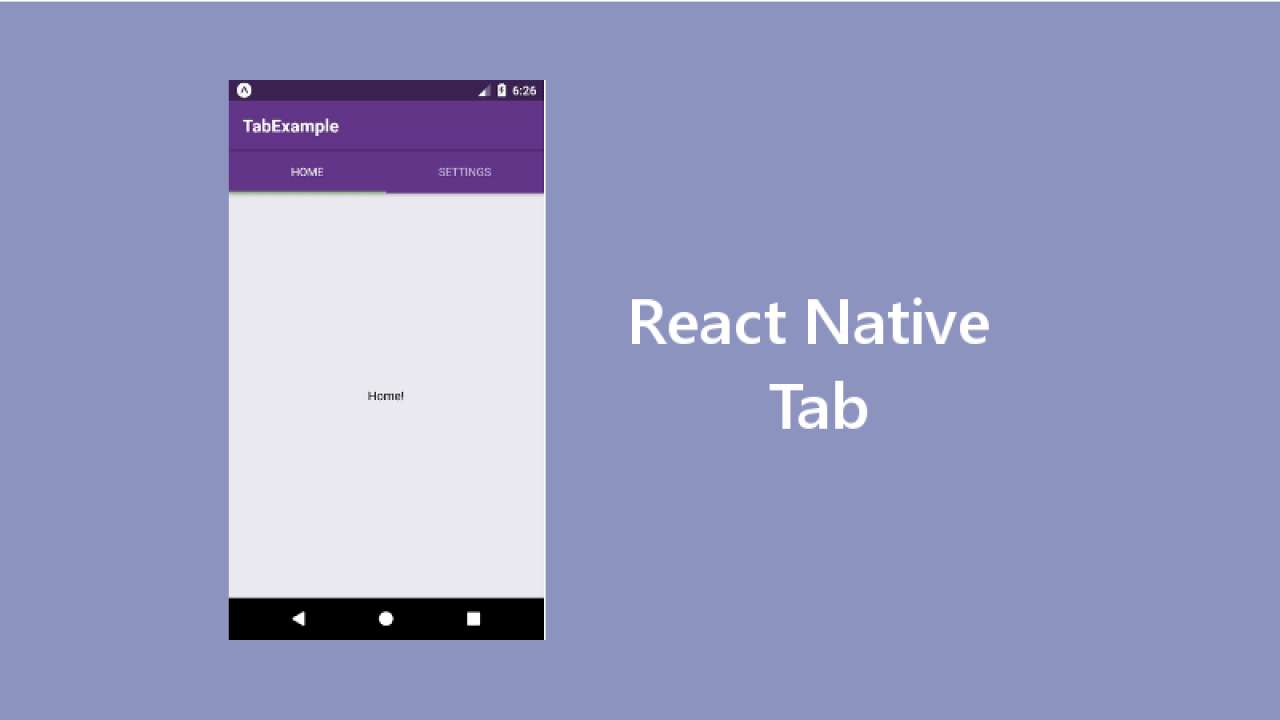 Example of React Native Tab with Latest React Navigation