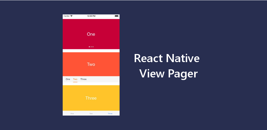 React Native View Pager with 3 Different Indicators - About React