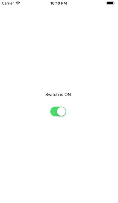 Example of React Native Switch Component - About React