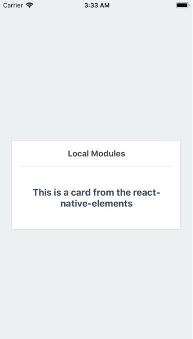 React Native Card View for Android and IOS - About React