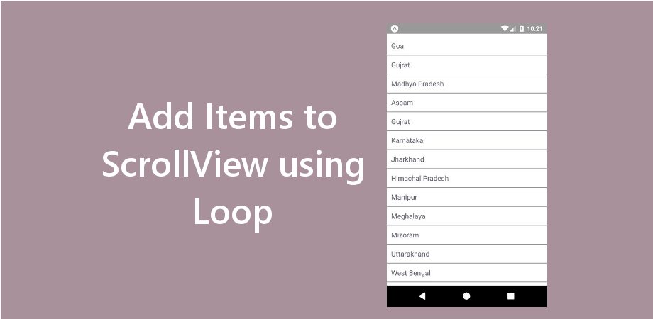 React Native Add Items to ScrollView using Loop
