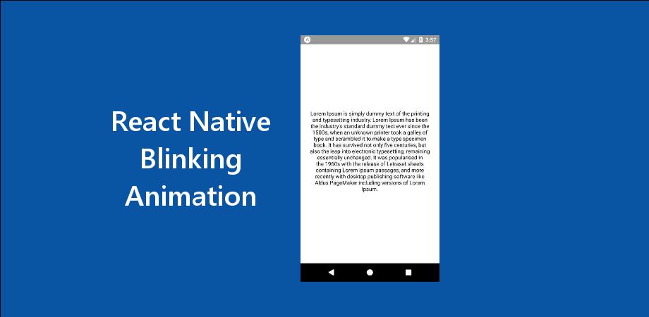 React Native Blinking Animation