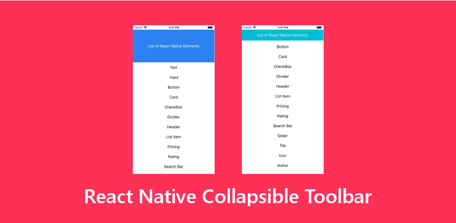 React Native Collapsible Toolbar with Animation