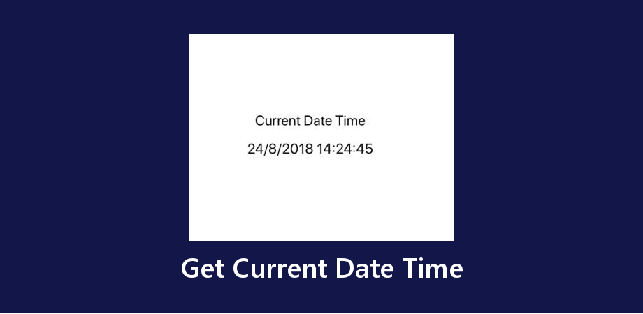 React Native Get Current Date Time