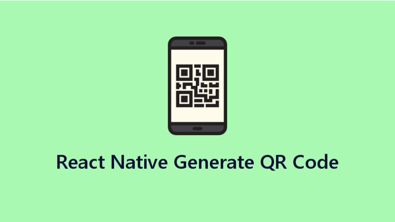 Code to generate QR Code in React Native