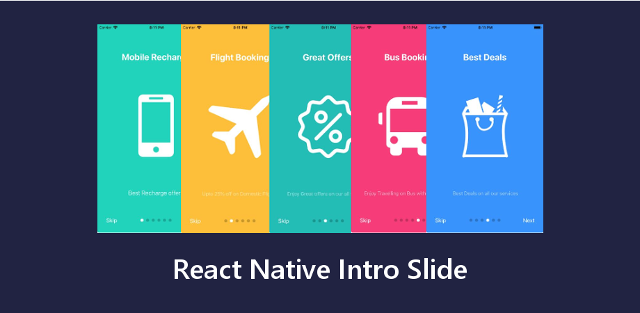 React Native App Intro Slider using AppIntroSlider