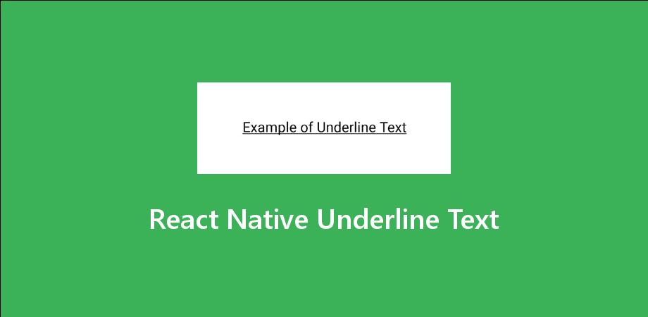 React Native Underline Text