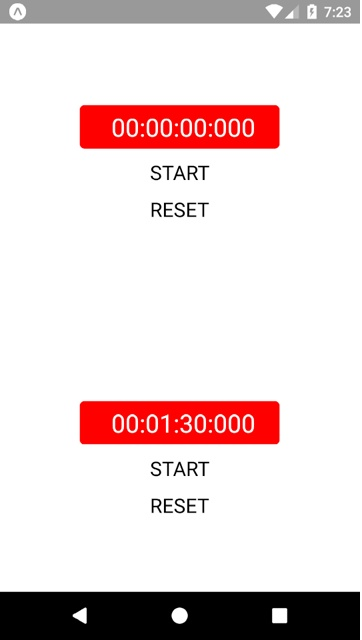 Example Code of React Native Timer and Stopwatch - About React Native