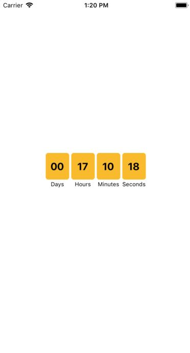 React Native CountDown Timer using react-native-countdown-component