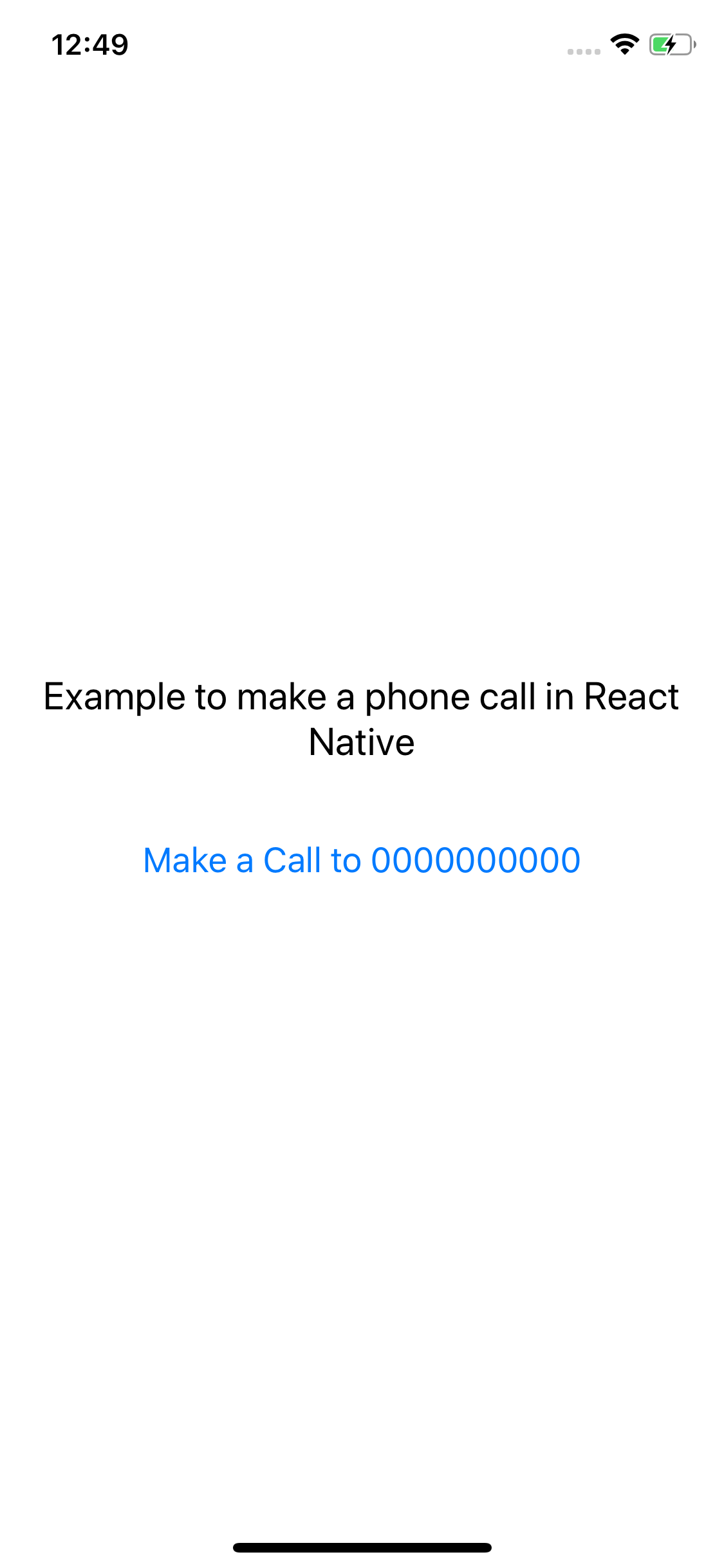 Example to Make a Phone Call in React Native App - About React