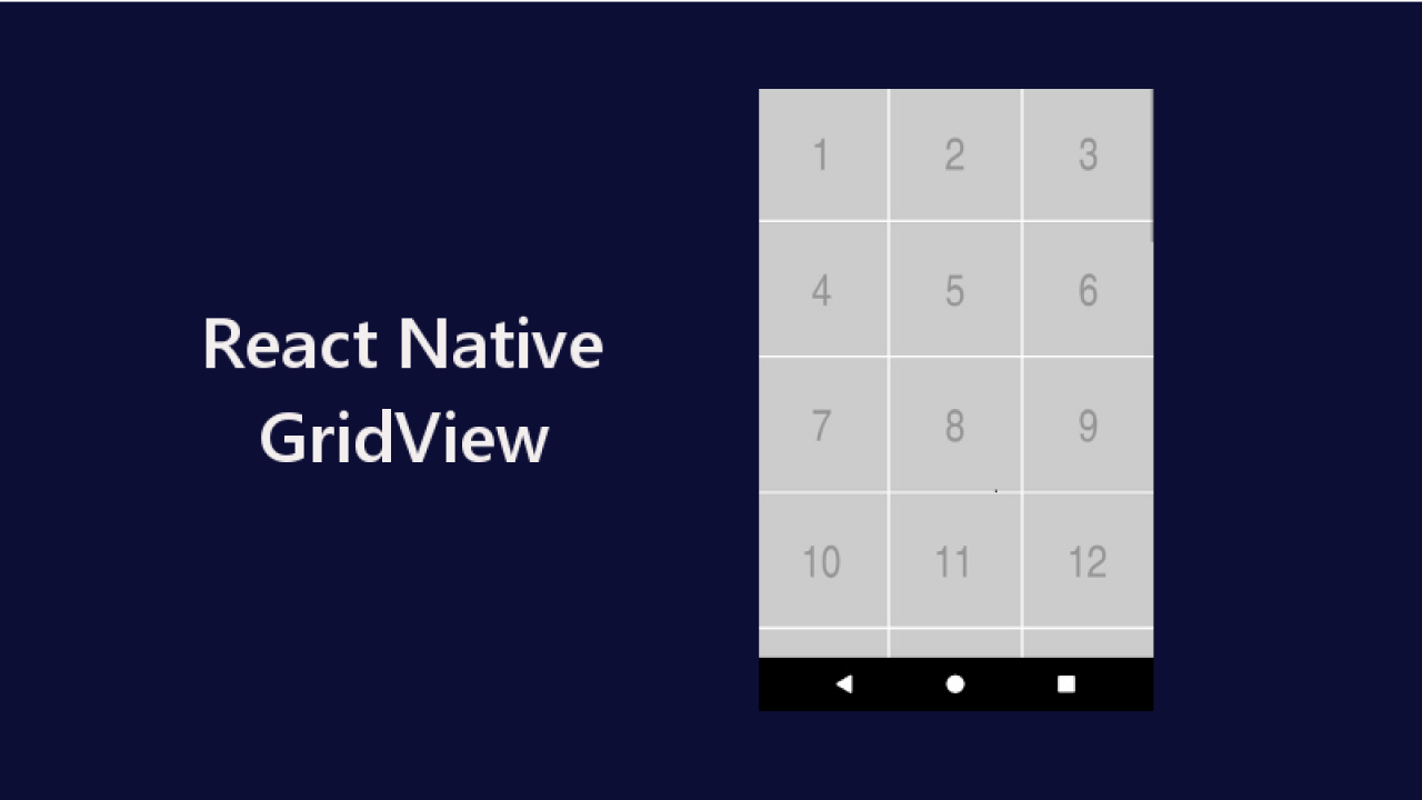 Example of GridView using FlatList in React Native - About React