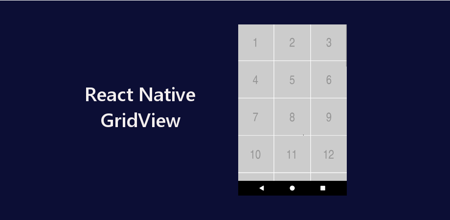 Example of GridView using FlatList in React Native