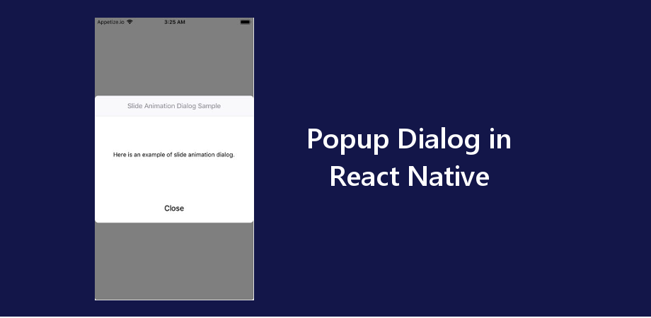 Example of Popup Dialog in React Native