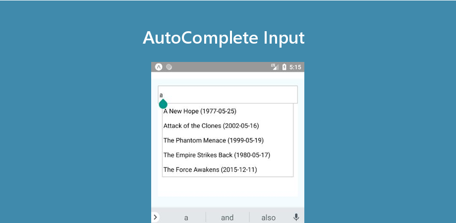 Example of React Native AutoComplete Input - About React