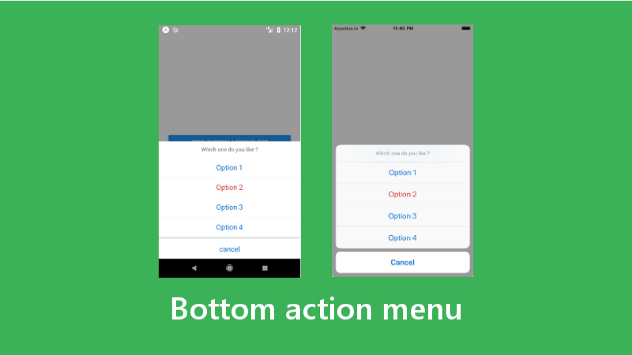Making a Bottom Action Menu in React Native - About React