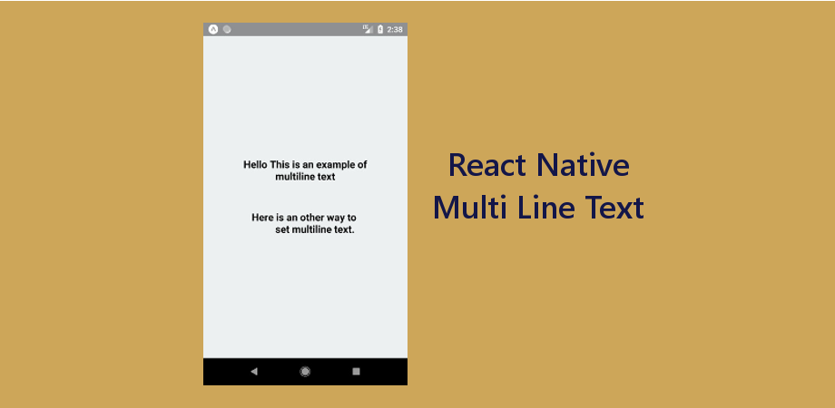 Multi-Line Text / Break Text in React Native - About React