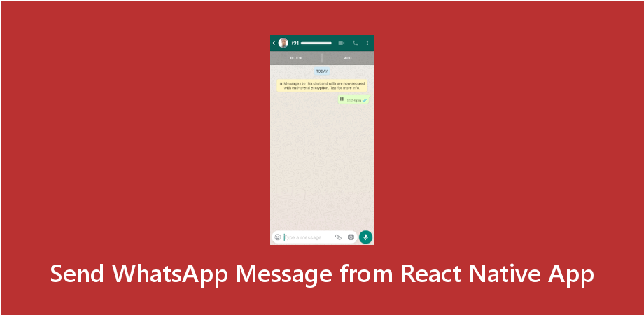Example to Send WhatsApp Message from React Native App