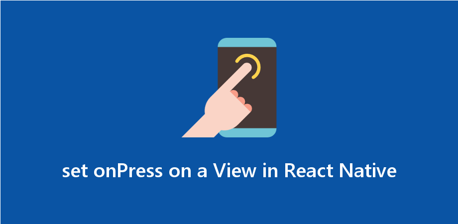 How to set onPress on a View in React Native