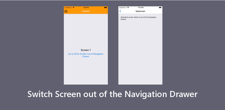 Switch Screen out of the Navigation Drawer with Latest