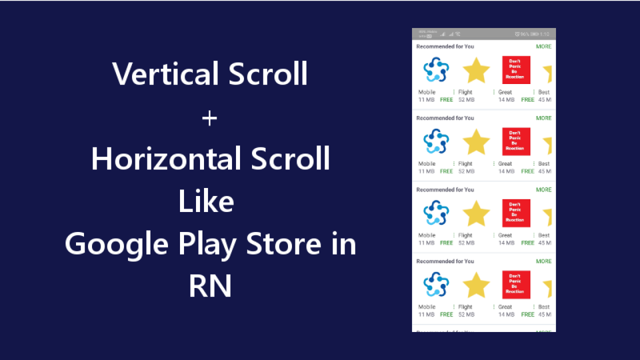 Vertical and Horizontal Scroll View Like Google Play Store