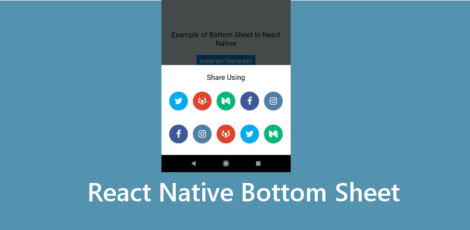 Example of Bottom Sheet (Material Design) in React Native