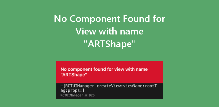 "No component found for view with name ""ARTShape"""