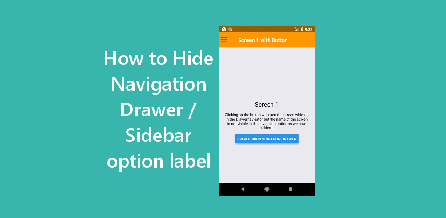 How to Hide Navigation Option from Navigation Drawer / Sidebar in React Native