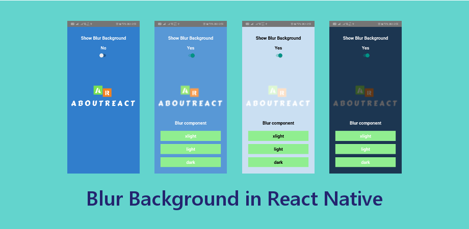 Make a Blur Background in React Native