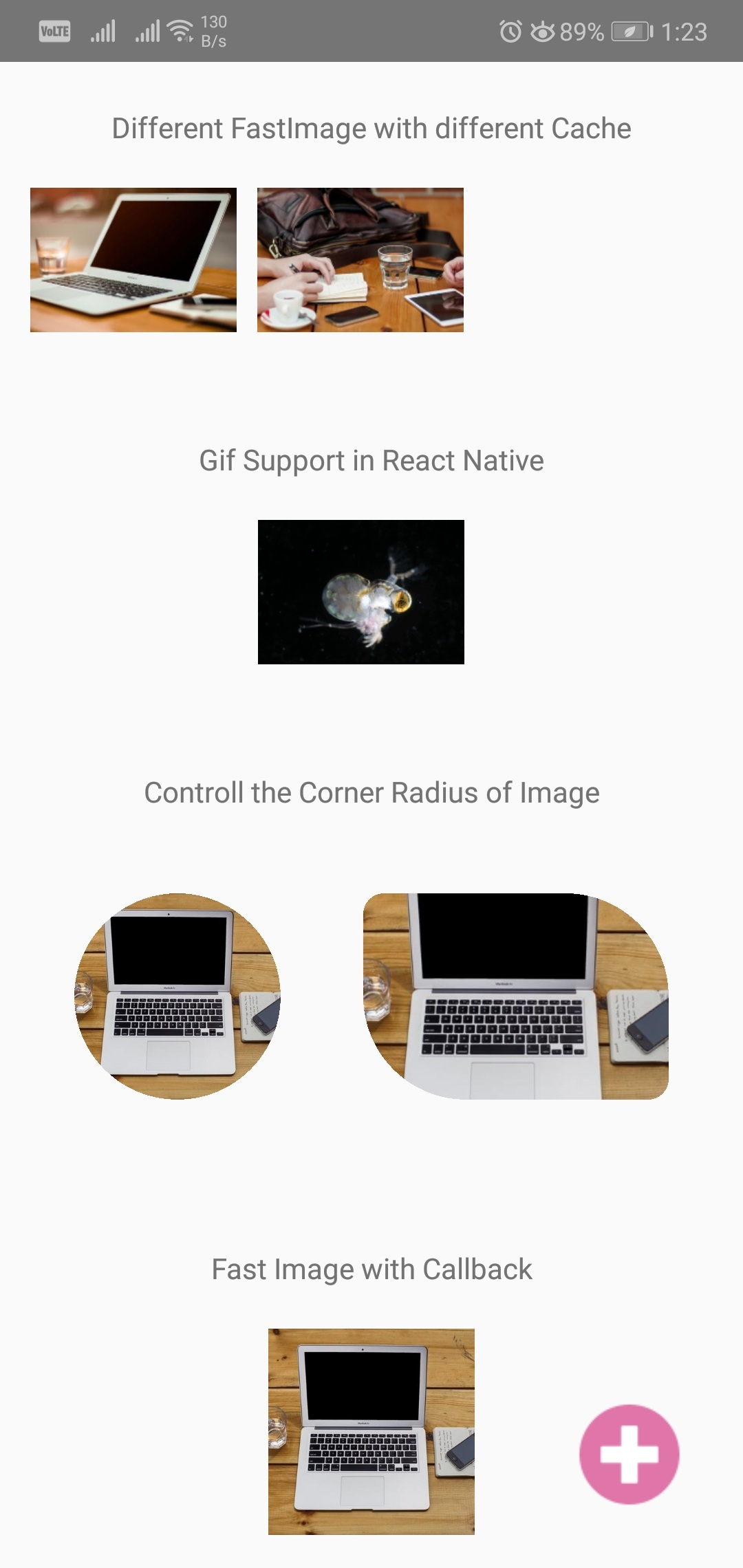 Fast Speed Image Loading using React Native Fast Image