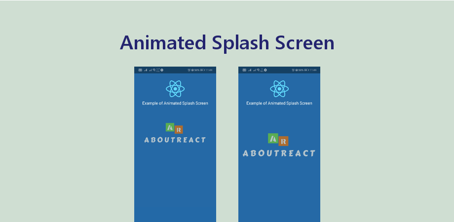 Example of Animation Splash Screen with Zoom Effect - About React