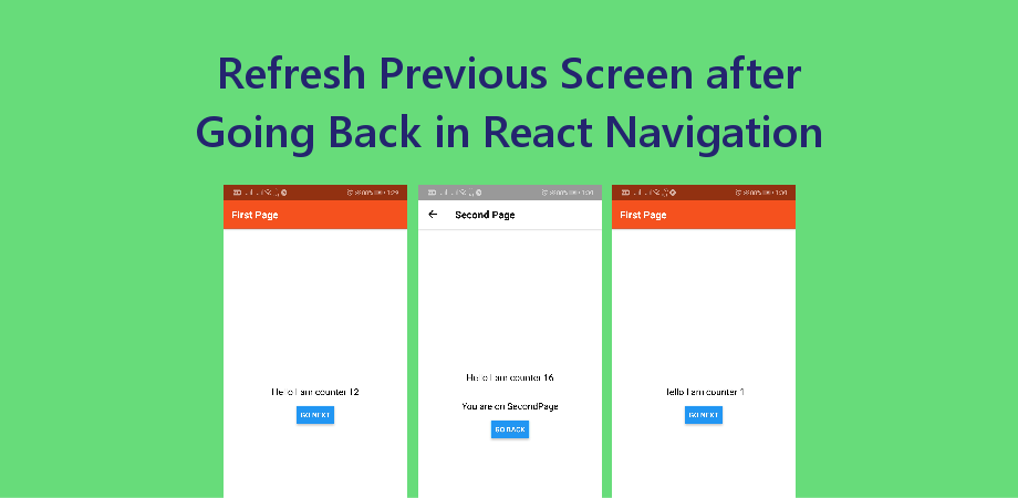 Refresh Previous Screen after Going Back in React Navigation