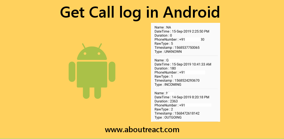 How to Access Call Logs of Android Devices from React Native App