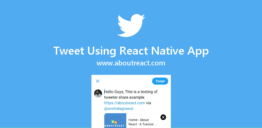 Tweet on Twitter with URL from React Native App