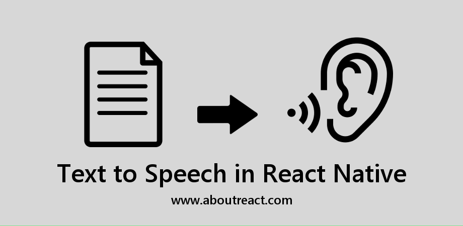 Text to Speech Conversion with Natural Voices in React Native