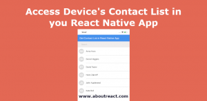 react native access contact list