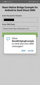 ReactNativeBridgeDirectSMS2